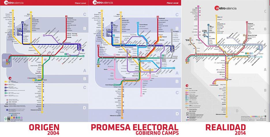 Mapa De Metro Valencia.Bonig Maquilla El Plano De Metrovalencia Para Aparentar
